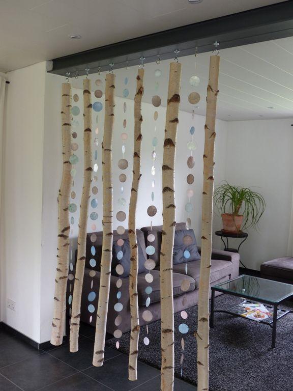 raumtrenner aus hakenmagneten und birkenst mmen decor raum raumtrenner birke. Black Bedroom Furniture Sets. Home Design Ideas