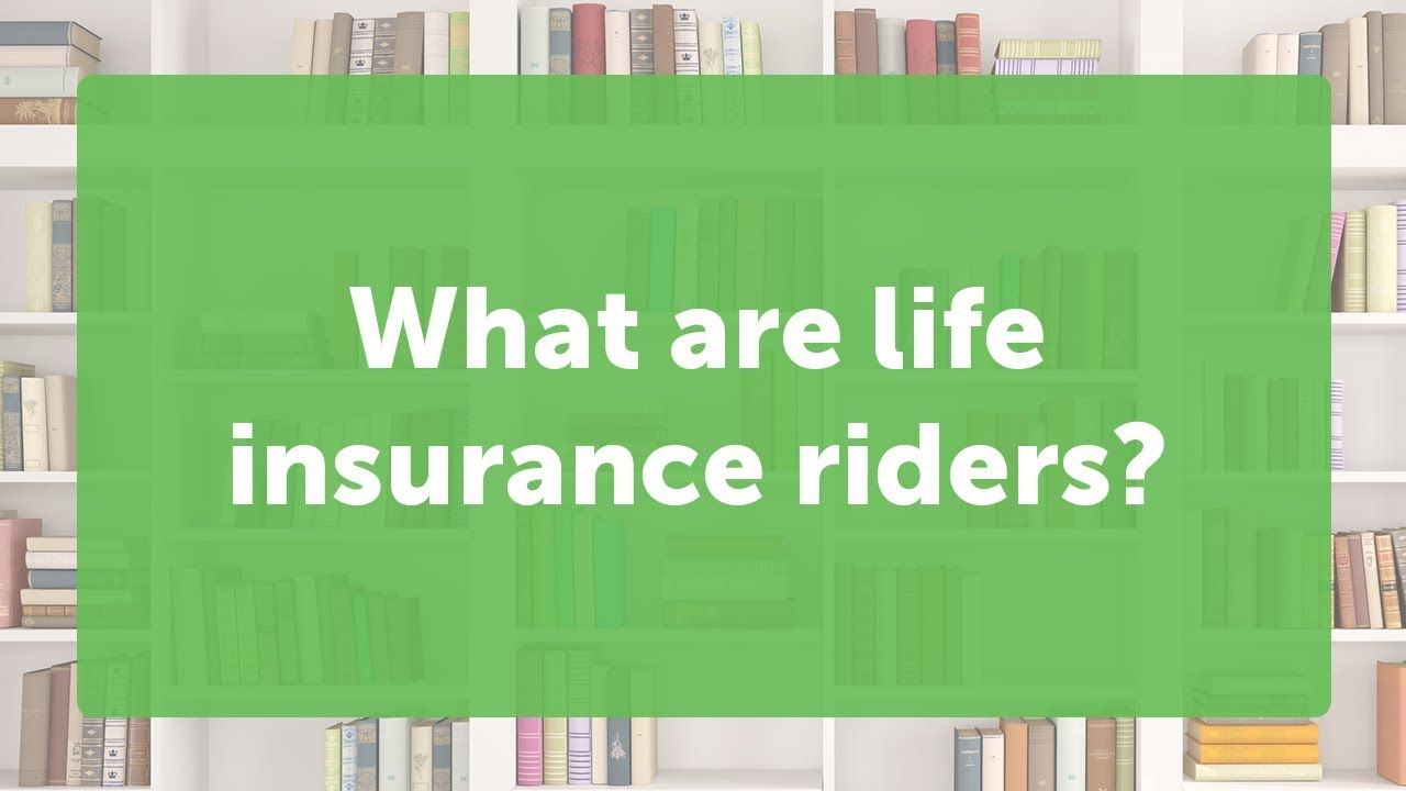 The Different Types Of Life Insurance Riders Quotacy Term Life