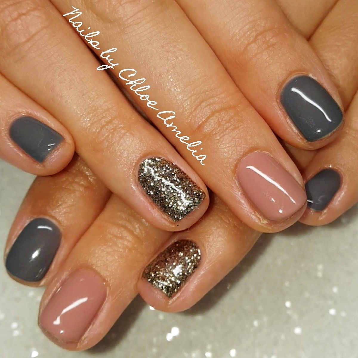 Calgel Nails Ready To Wear And Slate Grey Calgelnails Nails Gelnails Calgel Nails Nails Gel Nails