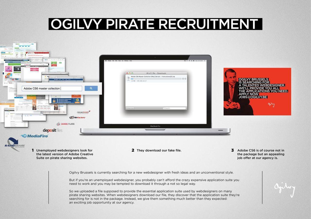 Ogilvy Brussels unconventional job ad via pirate sites | 27. Good ...