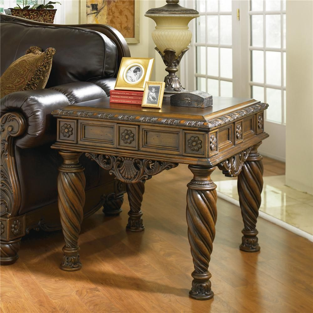 Furniture Classy Millennium Furniture From Ashleys: North Shore Square End Table By Ashley Millennium