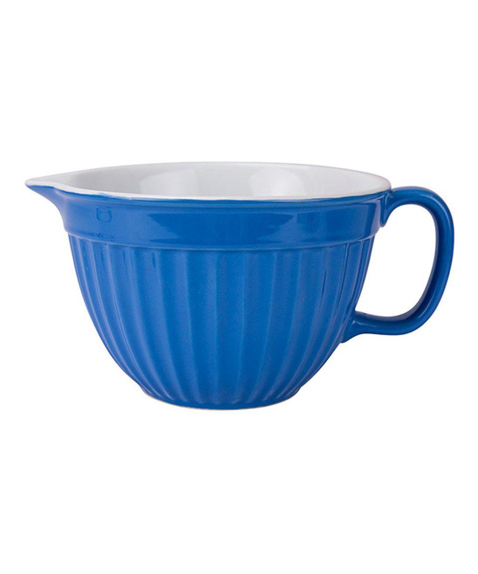 Look at this #zulilyfind! Blue Batter Bowl by Boston Warehouse #zulilyfinds