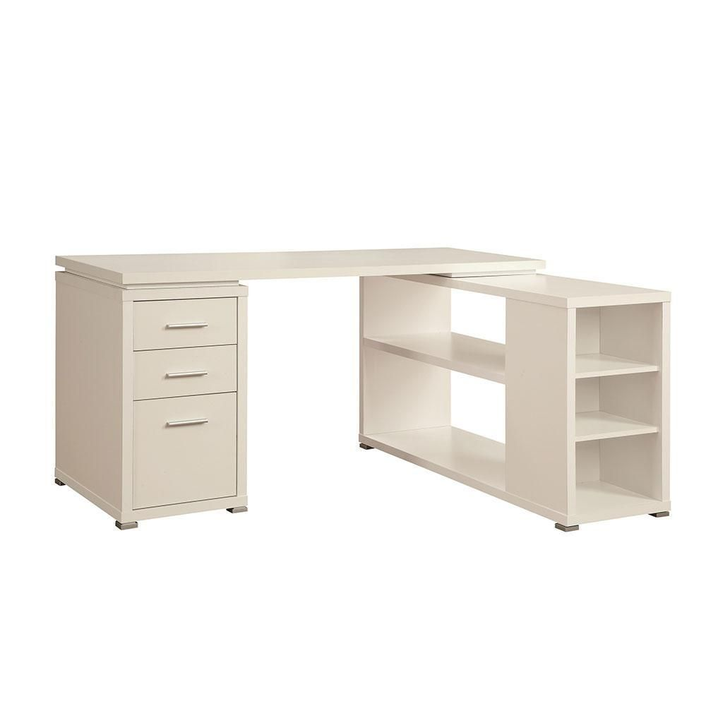 Corner Desk With Shelving 800516 Wh White L Shaped Desk Cheap Office Furniture Desk With Drawers
