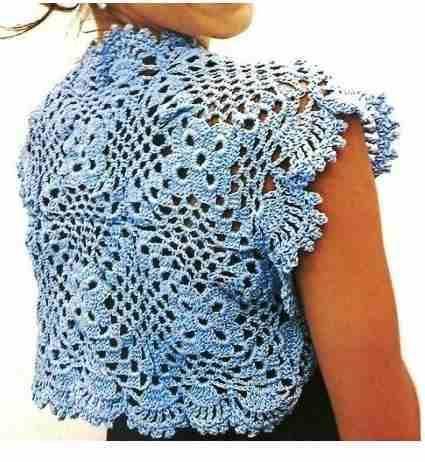 torera crochet tejida | chaquetas crochet | Pinterest | Croché