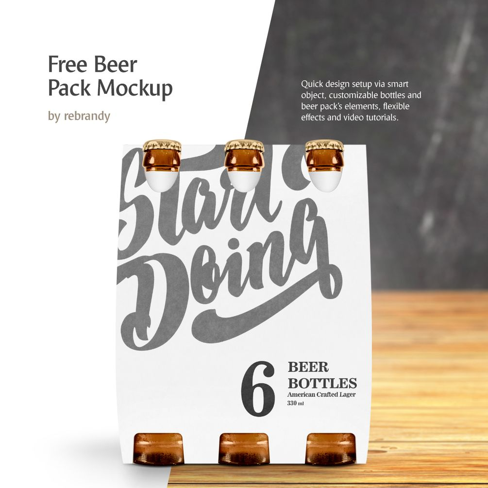 Download Freebie! Beer Pack Mockup | Beer pack, Free beer, Free ...