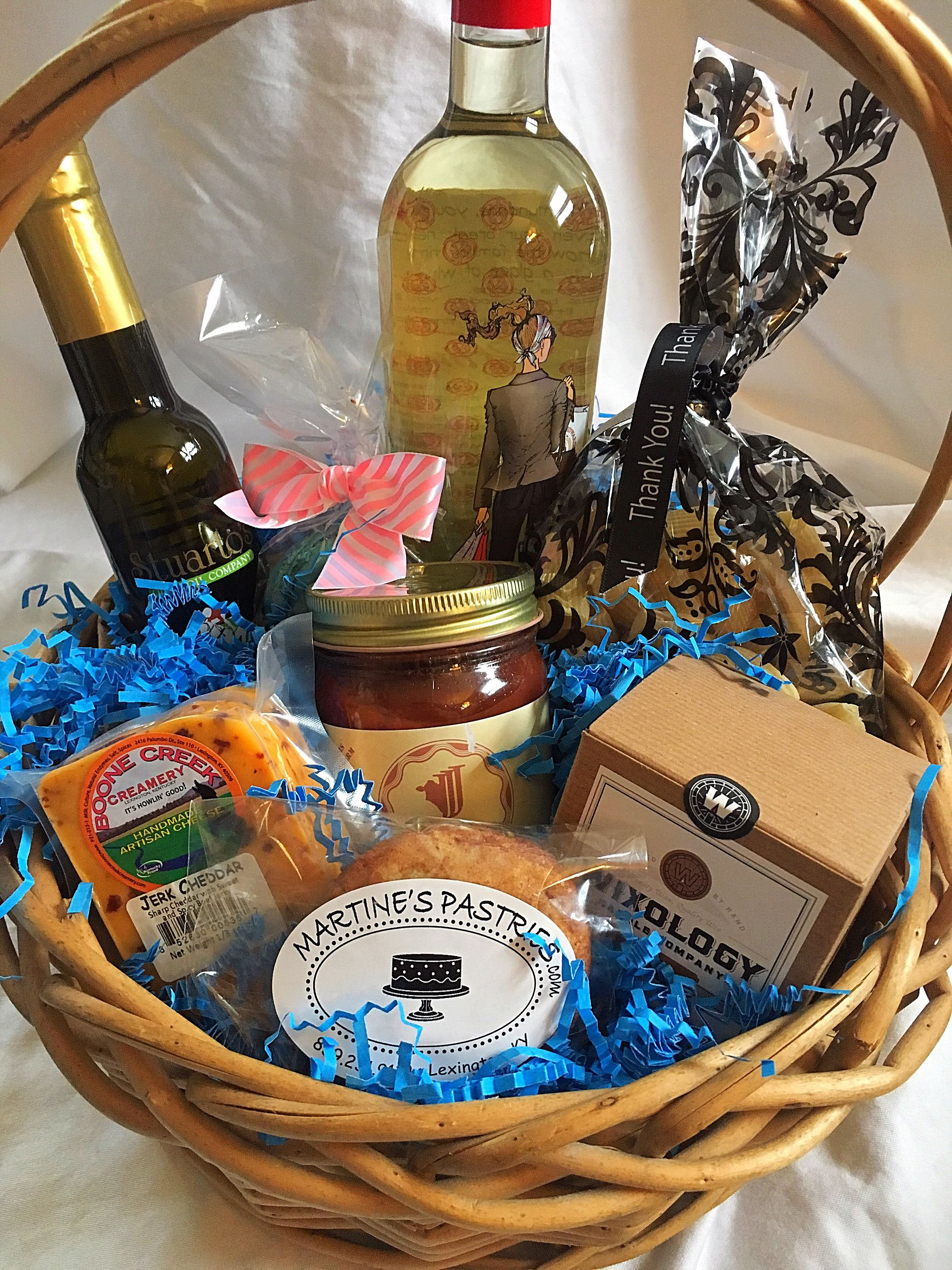 Diy kentucky made gift basket holiday drinks gift