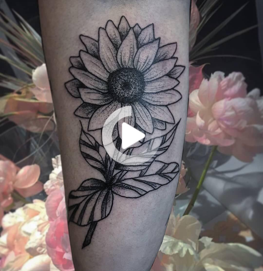 135 Sunflower Tattoo