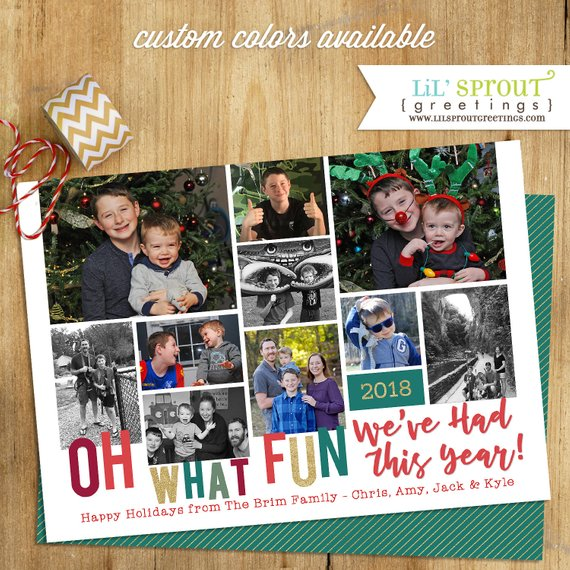Oh What Fun Holiday Photo Card 5x7 Christmas Photo Card Etsy Christmas Photo Cards Holiday Photo Cards Photo Cards