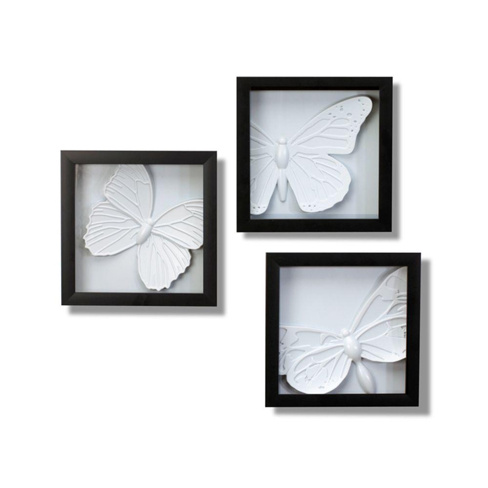 Art Butterfly Wall Decor   Set Of 3