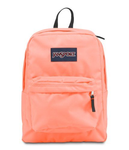 JanSport Superbreak Backpack, Coral Peaches - Click image twice ...