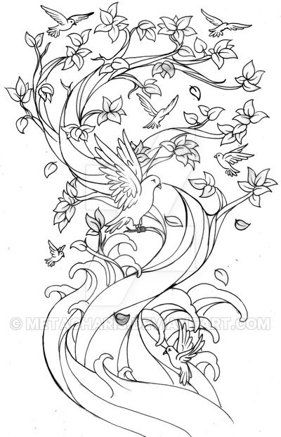 Kleurplaat Family Tree Tattoo by Metacharis on DeviantArt