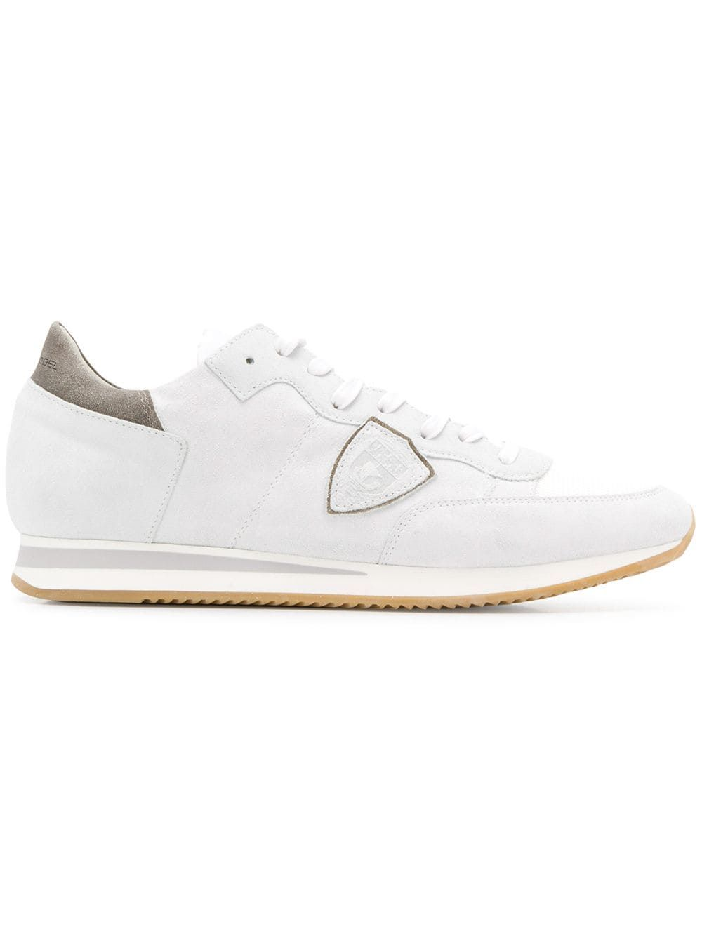 785e9436e317 PHILIPPE MODEL PHILIPPE MODEL SIDE LOGO PATCH SNEAKERS - WHITE.   philippemodel  shoes