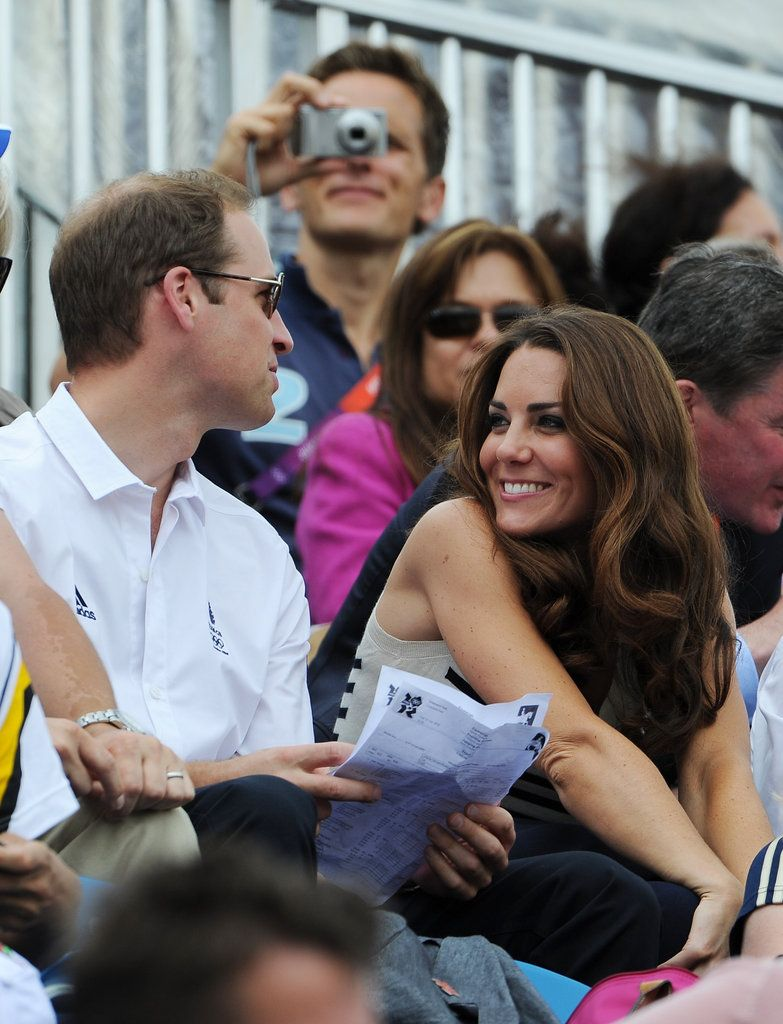 Prince William and Kate Middleton Watch Zara Get Silver. They look so happy and flirty!