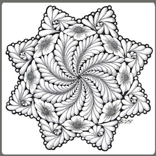 galerie kreisbilder / zendalas   zentangle zeichnungen