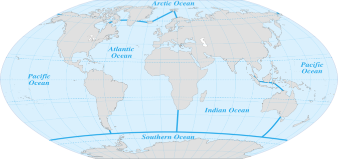 Map of open oceans the open ocean biome is the largest of all the map of open oceans the open ocean biome is the largest of all the biomes and consists of many different ecosystems that are linked together gumiabroncs Gallery