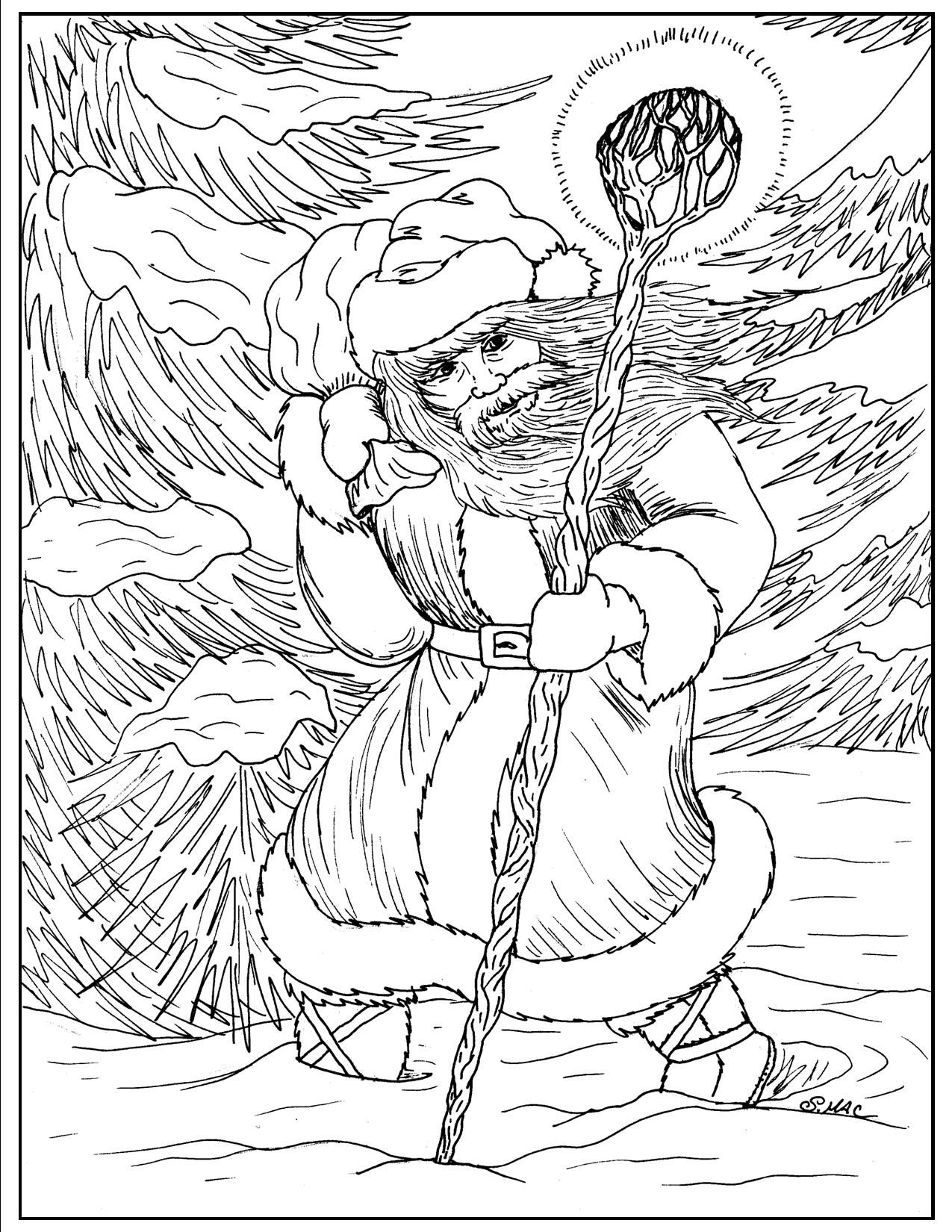 S mac coloring pages - S Mac S Forest Santa 1 Coloring Page
