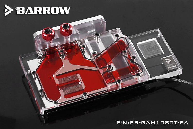Barrow Bs Gah1080t Pa Gpu Water Cooling Block For Galay Gtx 1080ti