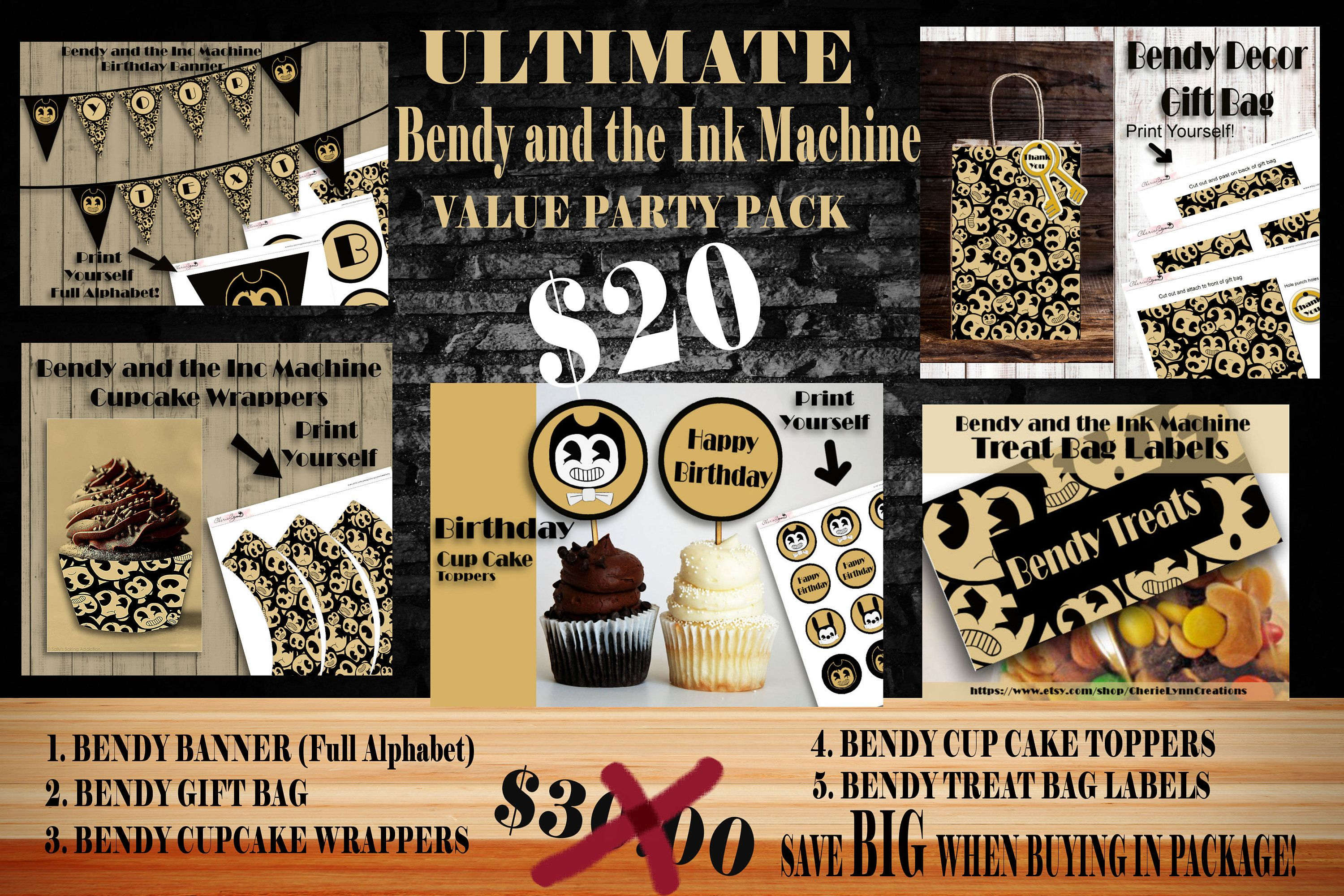 Bendy And The Ink Machine, Bendy Ultimate Package, Bendy Gift