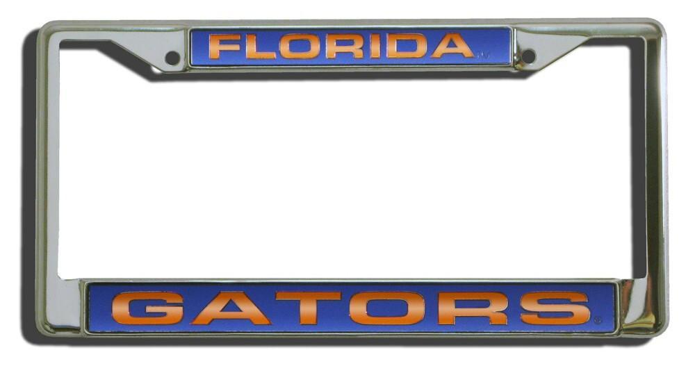 Florida Gators License Plate Frame Laser Cut Chrome | License plate ...