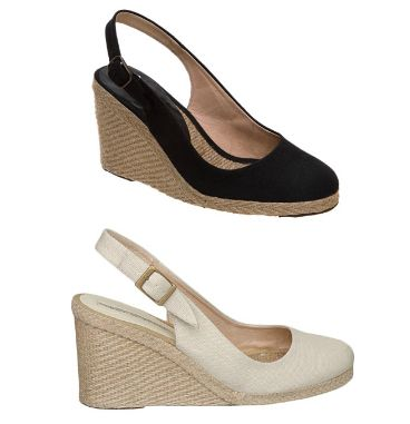f4d481153ef Kate has worn the black and natural off-white Imperia wedges  http