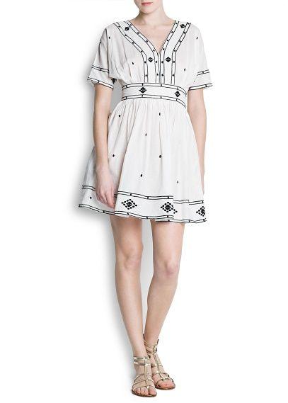 16617b292d MANGO - NUEVO - Vestidos - Vestido hippie bordado algodón