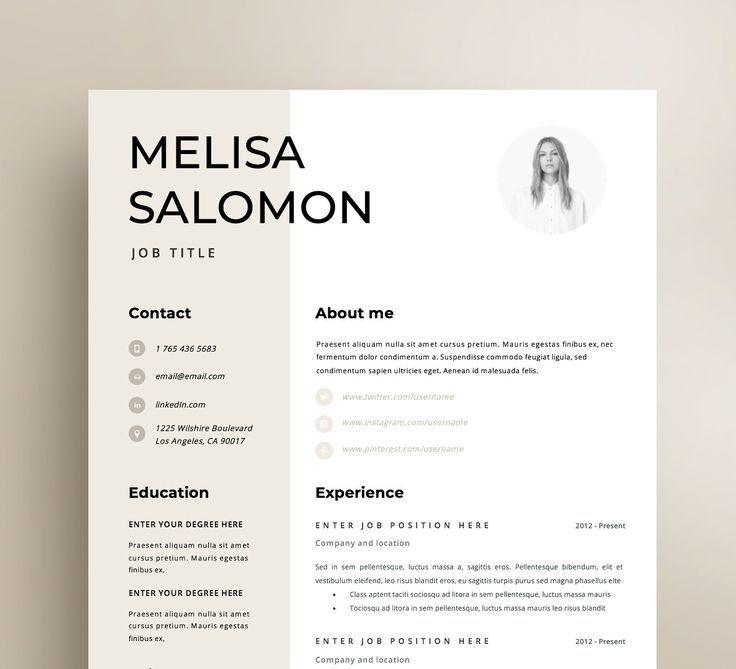 Resume Template | CV Template | Resume | CV design | Teacher resume | Curriculum Vitae | CV Instant download Resume | Resume Templates | cv