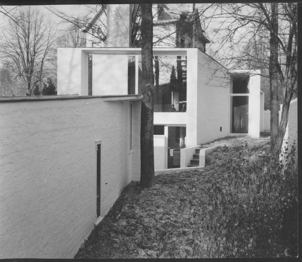 The private home of the architect Albert Bontridder, avenue Lequime, Rhode-Saint-Genèse, 1958. © Archives d'Architecture Moderne, Brussels