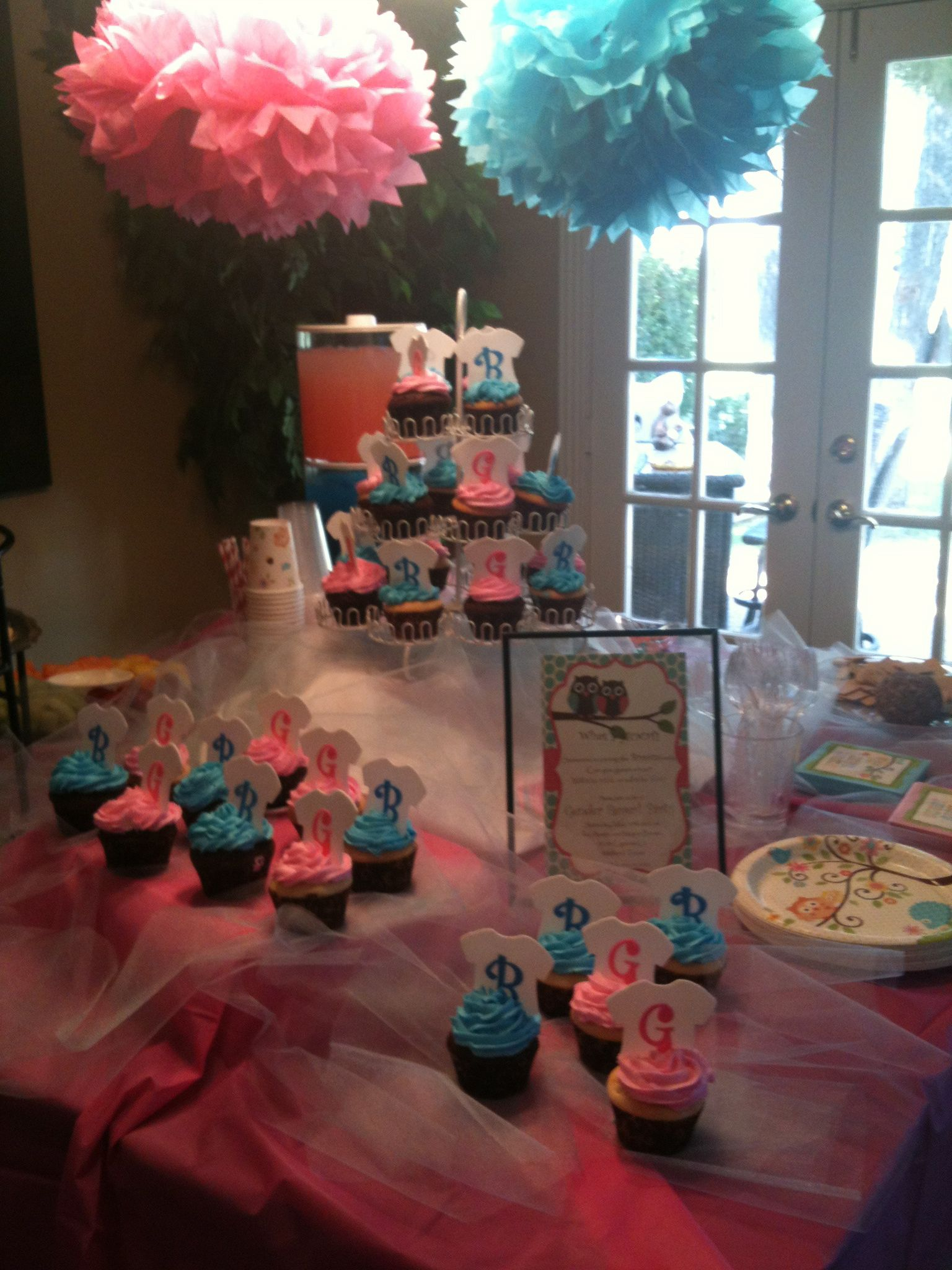 cupcakes Our Gender Reveal Party Pinterest