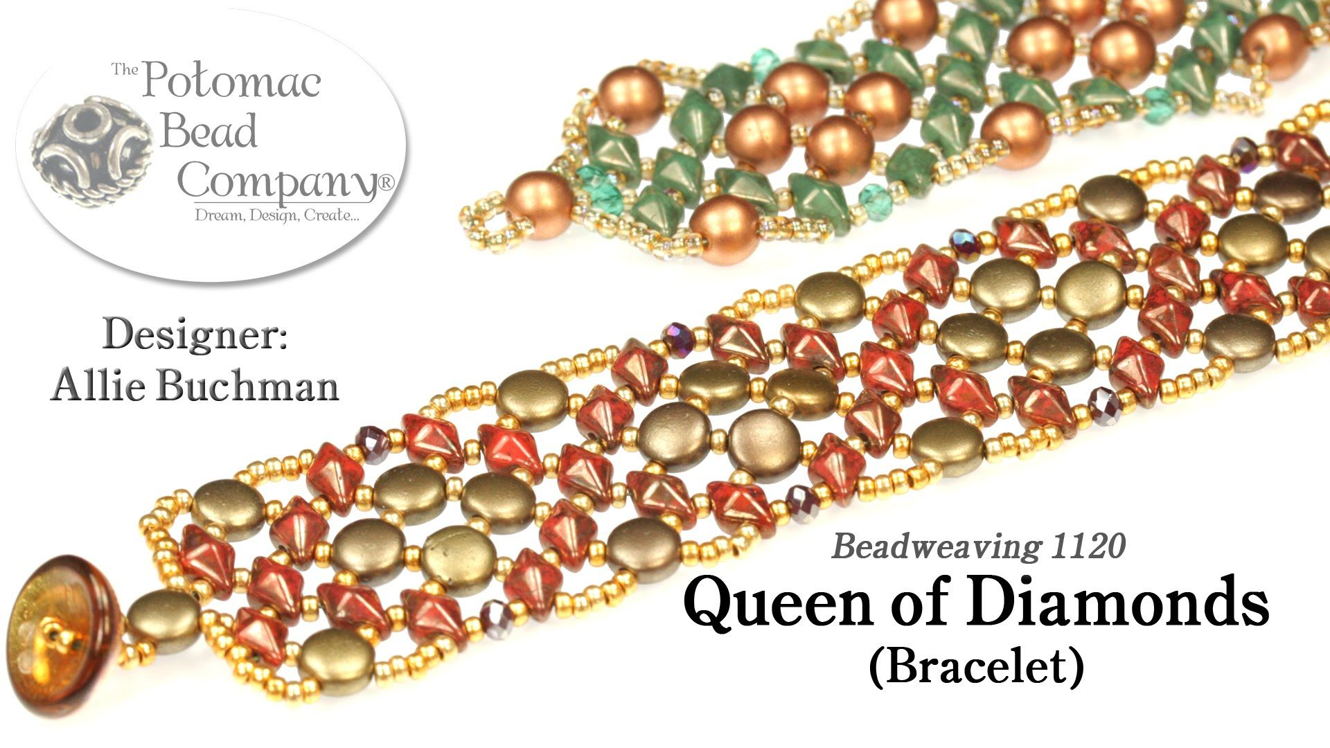Queen of diamonds bracelet tutorial bisuteria pinterest
