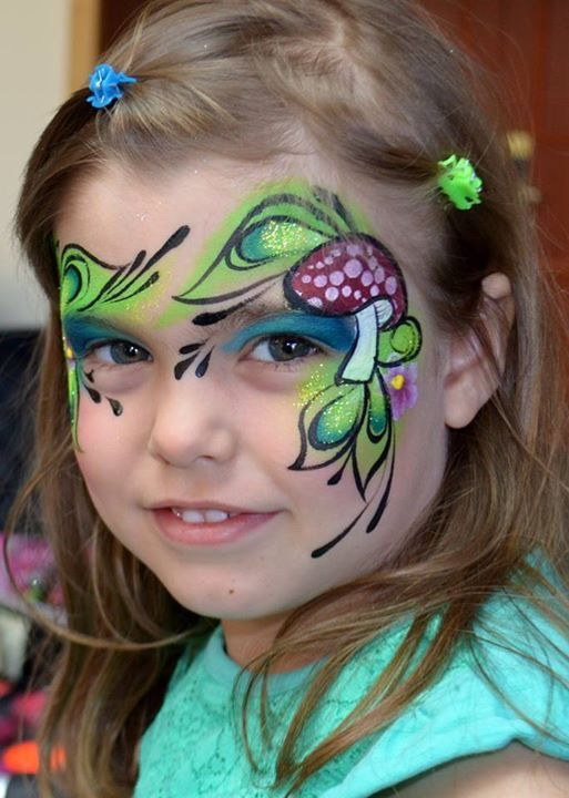 Face Painting Business Of Mushroom Face Painting Would Be A Nice Element To