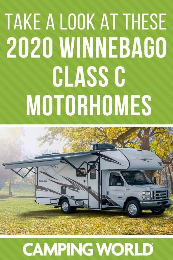 Every winnebago class c motorhome for 2020 in 2020 with