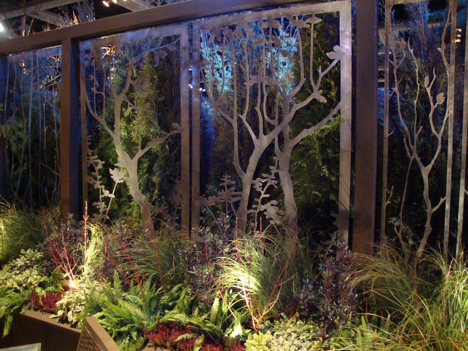 Laser cut panels metal cuts pinterest metal screen for Metal garden dividers