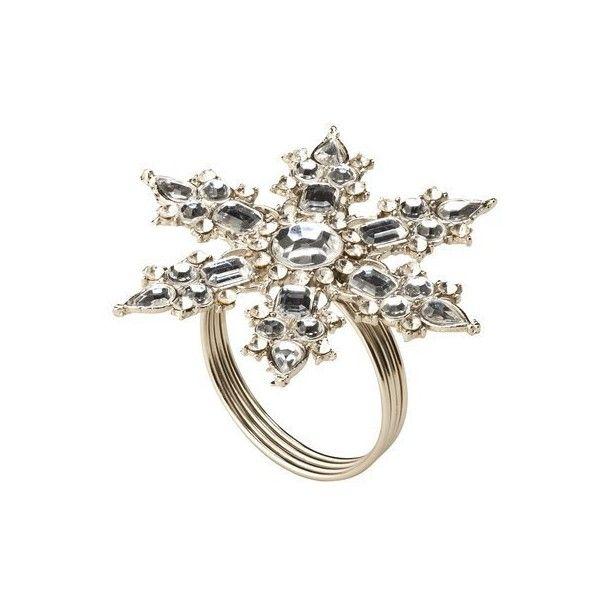 Napkin Ring 8 Pk Silver Snowflake Target found on