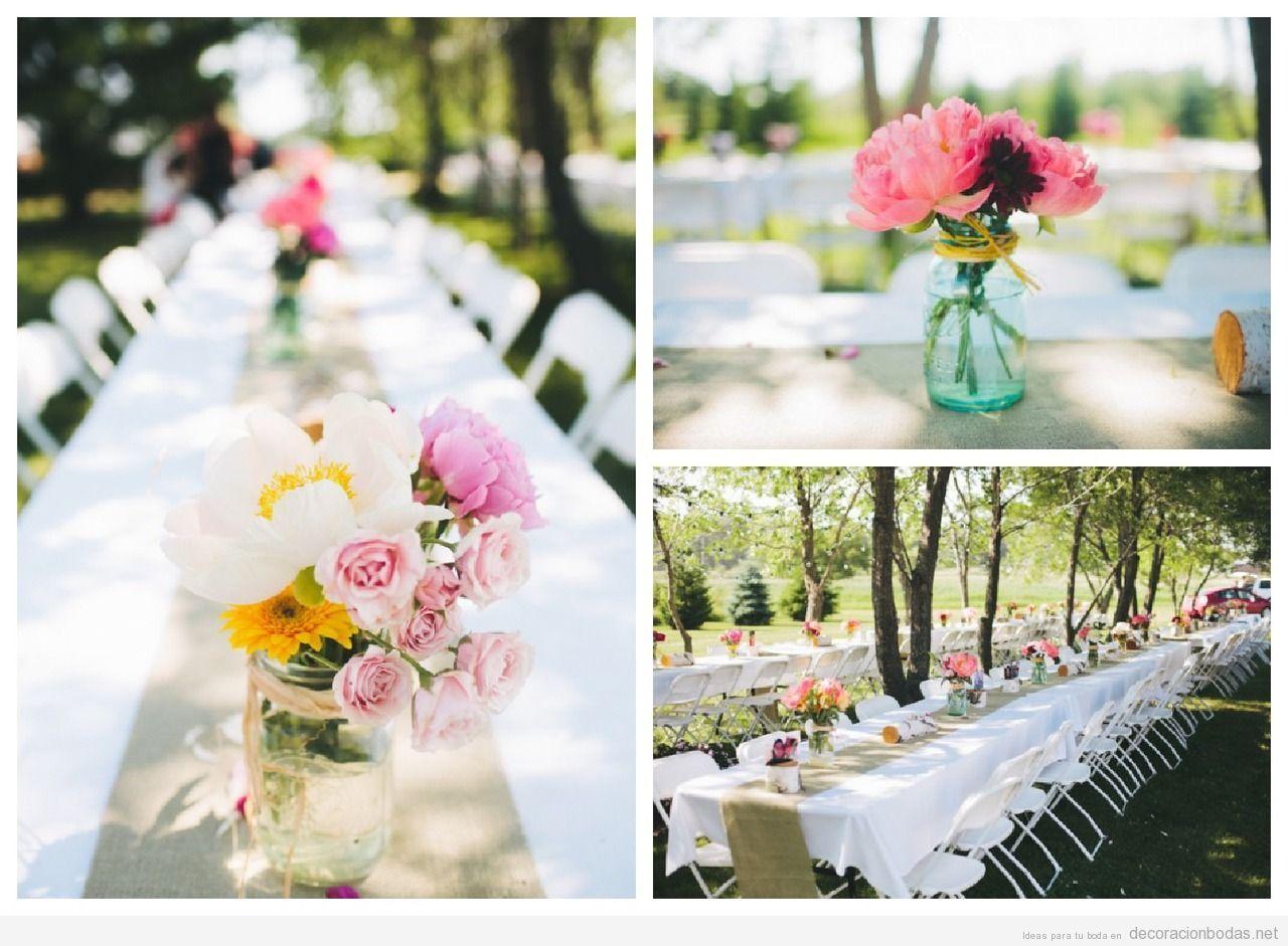 centros de mesas diy y baratos para decorar mesas de boda picnic wedding pinterest mesas de boda decorando mesas y centros de mesa