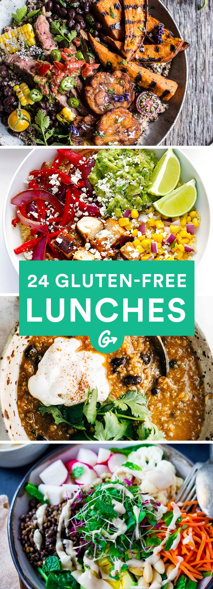 24 gluten free lunches that aren 39 t all salads gluten free recipes pinterest glutenfrei. Black Bedroom Furniture Sets. Home Design Ideas