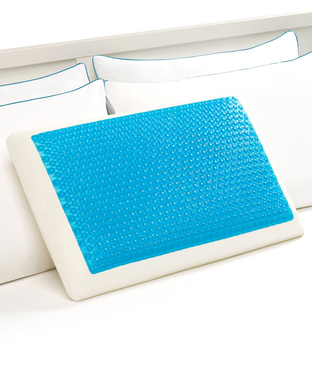 cooling on reversible gel cool bedding foam free product pillow tempure memory bath shipping rest loft