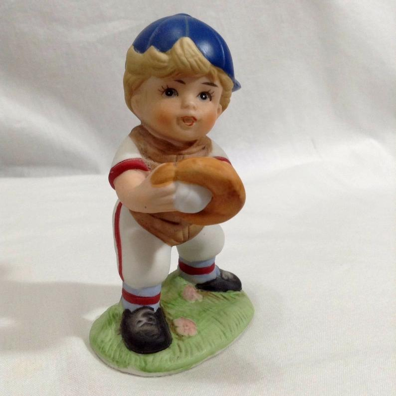 Girl Baseball Player Ceramic Bisque