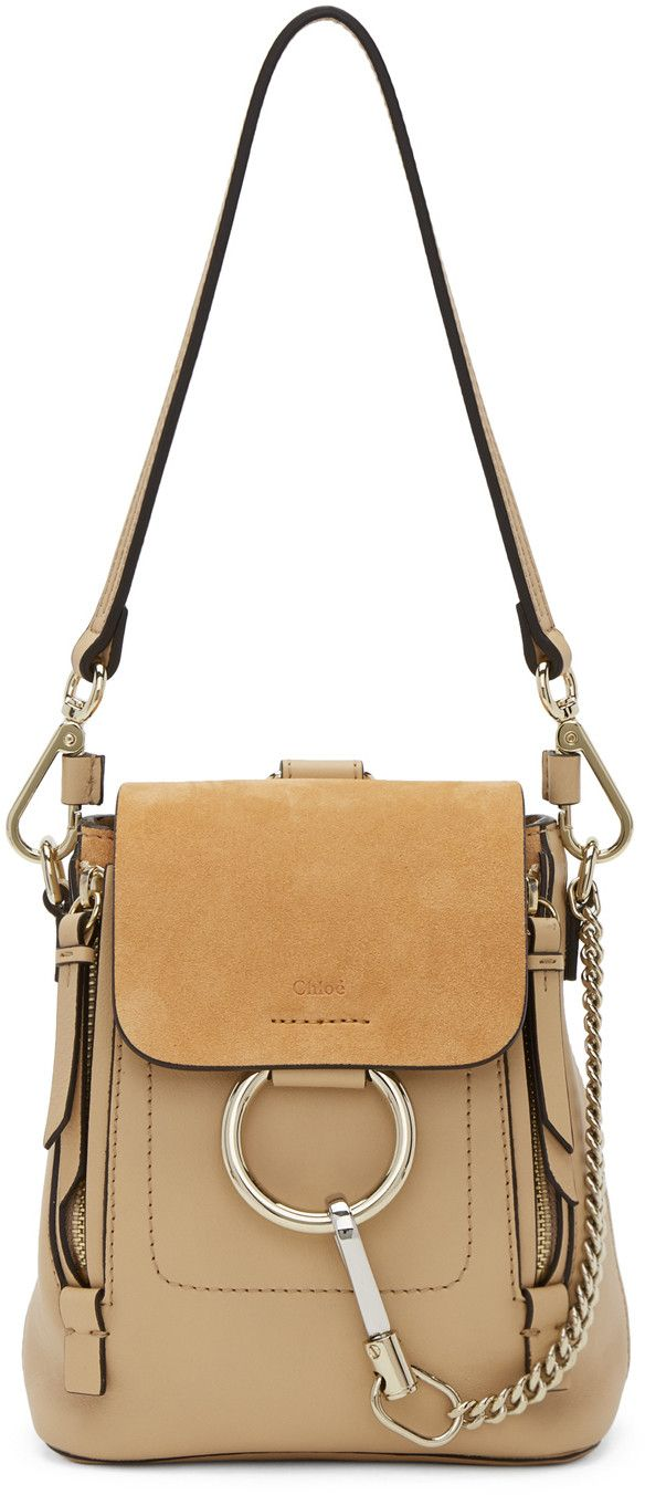 Beige Mini Faye Backpack Chlo 2mGri
