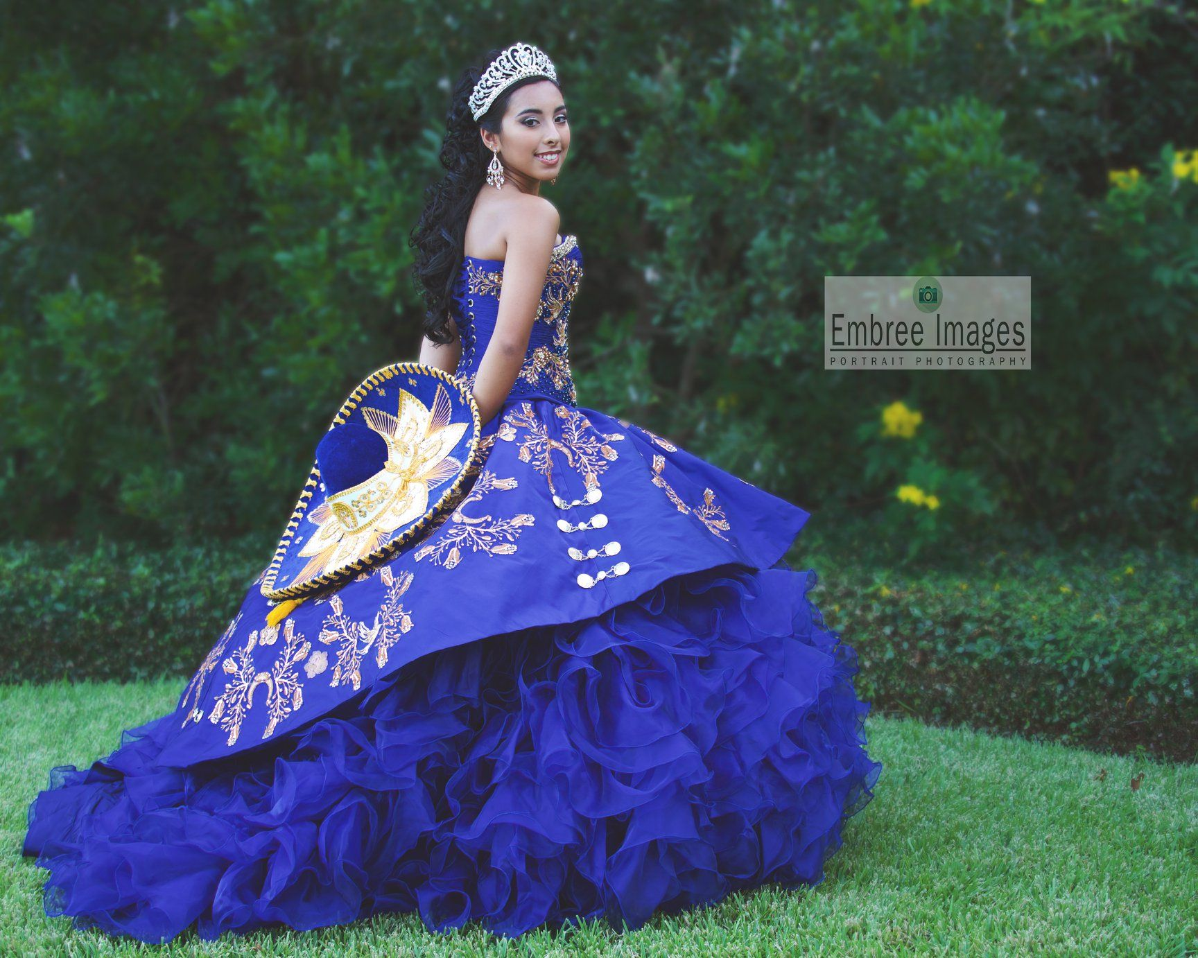 royal blue simple mexican style quinceanera dresses