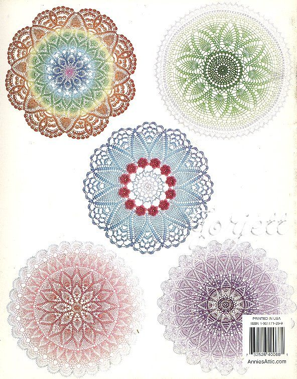 Painted Doilies, Annie\'s crochet patterns OOP new RARE