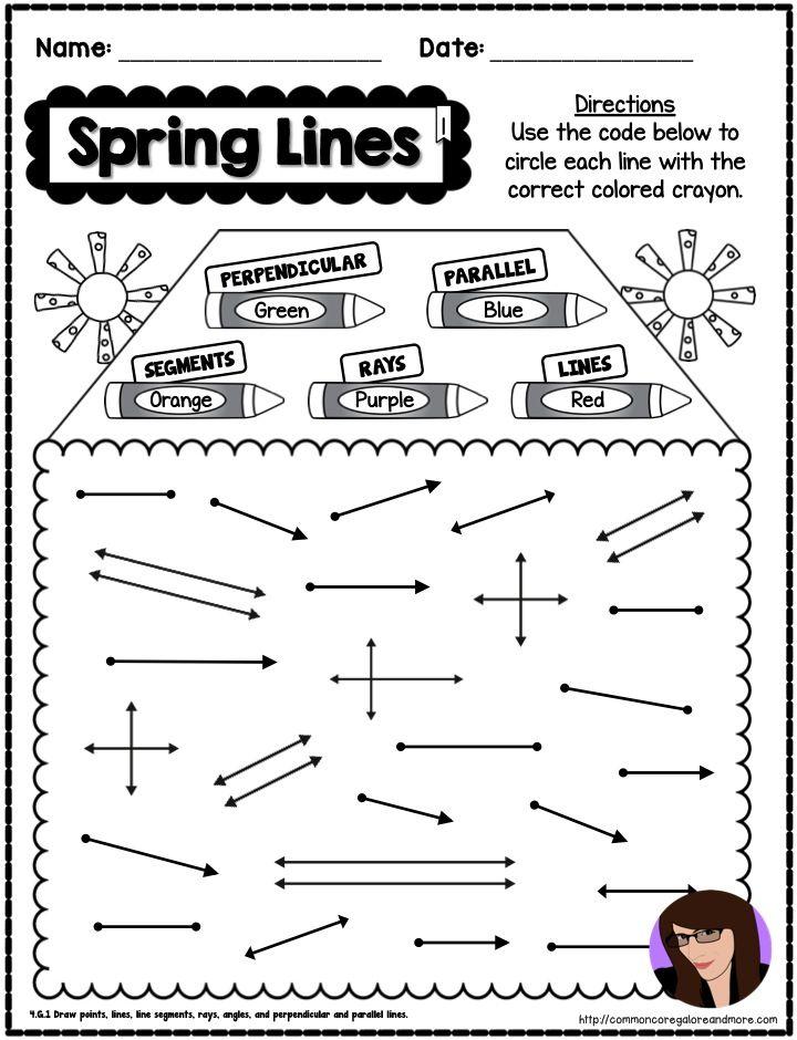 Spring No Prep Math 4th Grade 4th Grade Math Spring Math Everyday Math