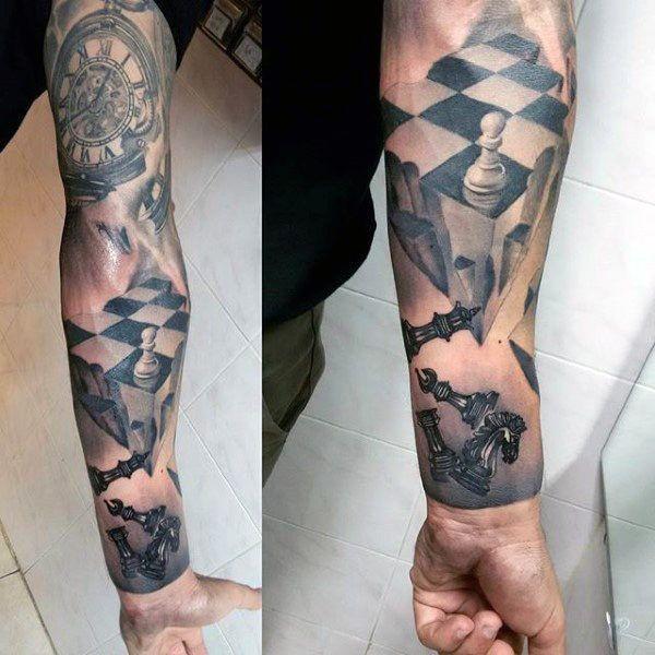 60 king chess piece tattoo designs for men powerful ink ideas rh pinterest com Pirate Ship Tattoo Designs Hand Tattoo Designs