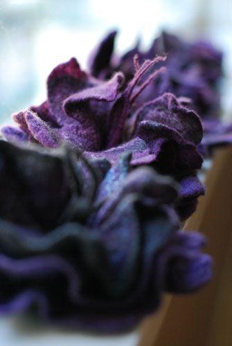 Amazing purple felt flowers!