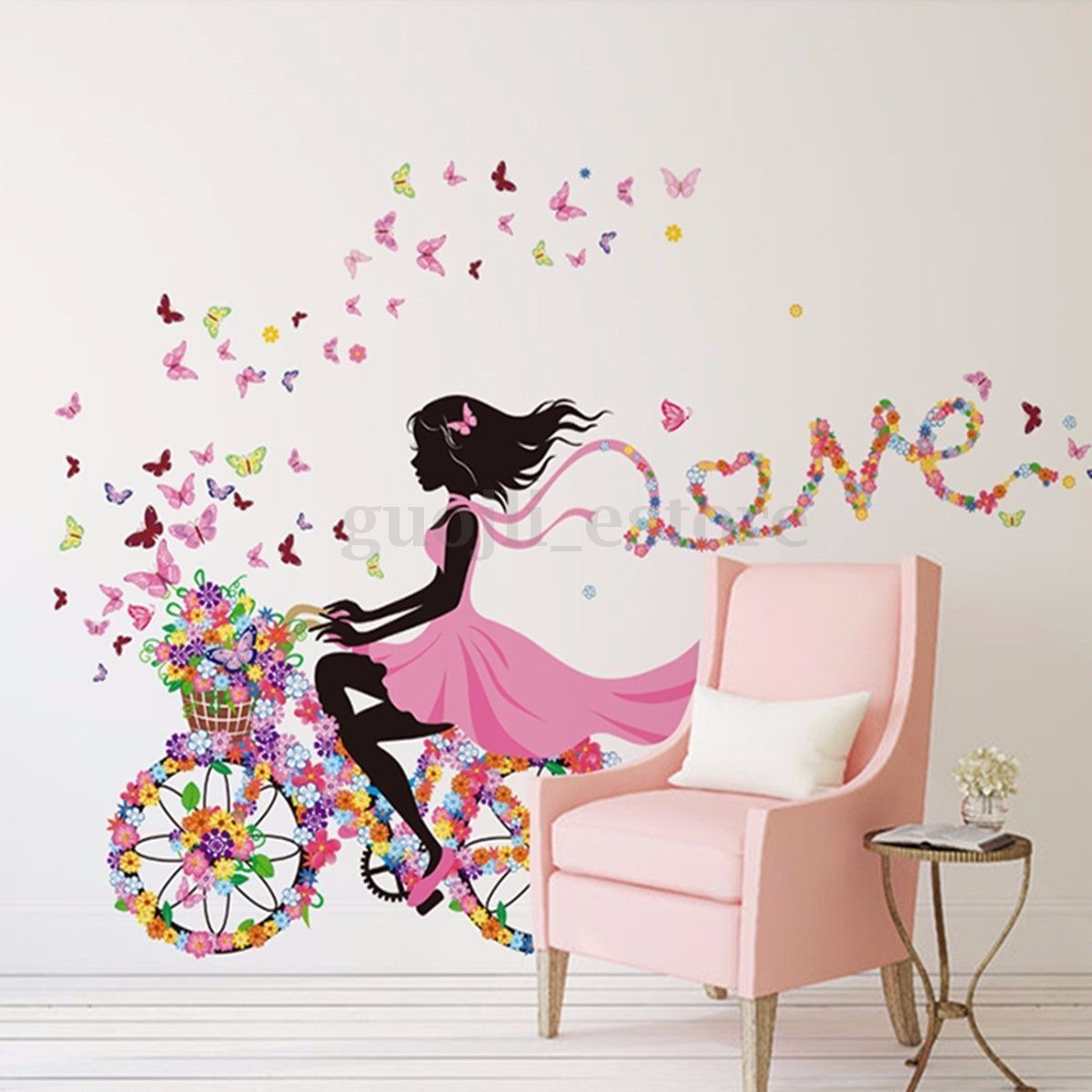 Wall decal new york letter frame cheap stickers world discount - Flower Girl Removable Wall Art Sticker Vinyl Decal Kids Room Home Mural Decor Us 4 75