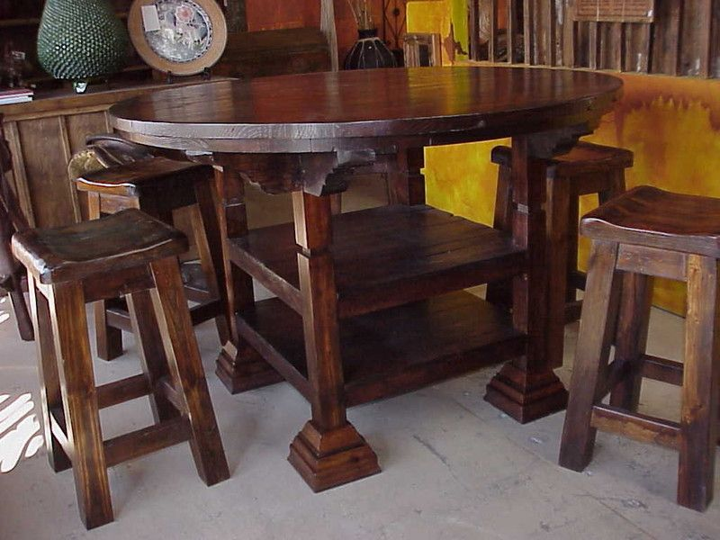 Rustic Pub Table Sets For Small Es Offer You Really Interesting To Have Warm And Inviting Decorating Styles