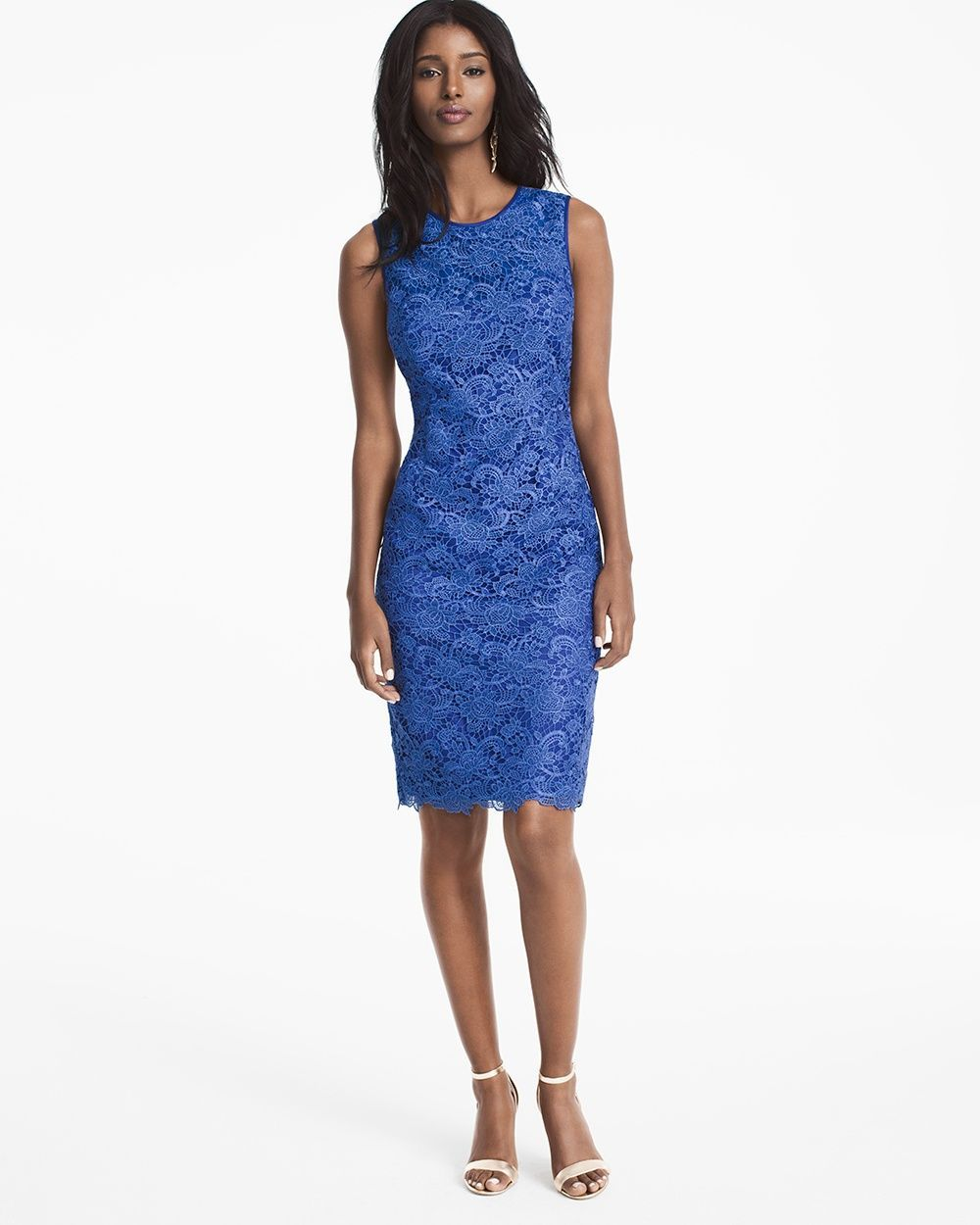 Women S Sleeveless Lace Sheath Dress By Whbm Products