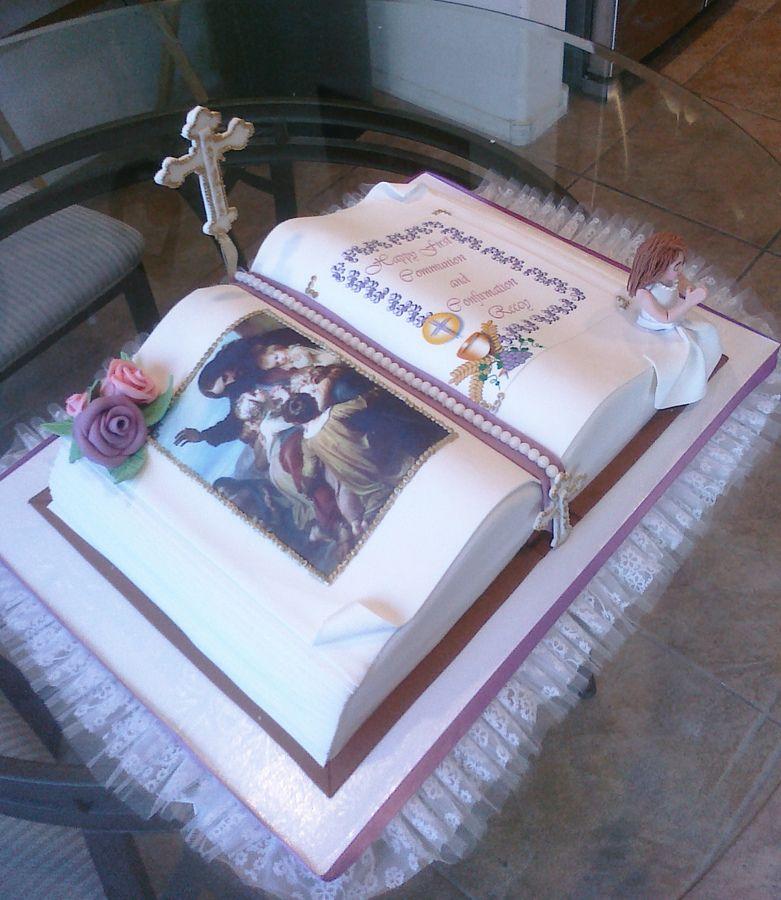 Bible cake bible cake book cakes baptism cake girl