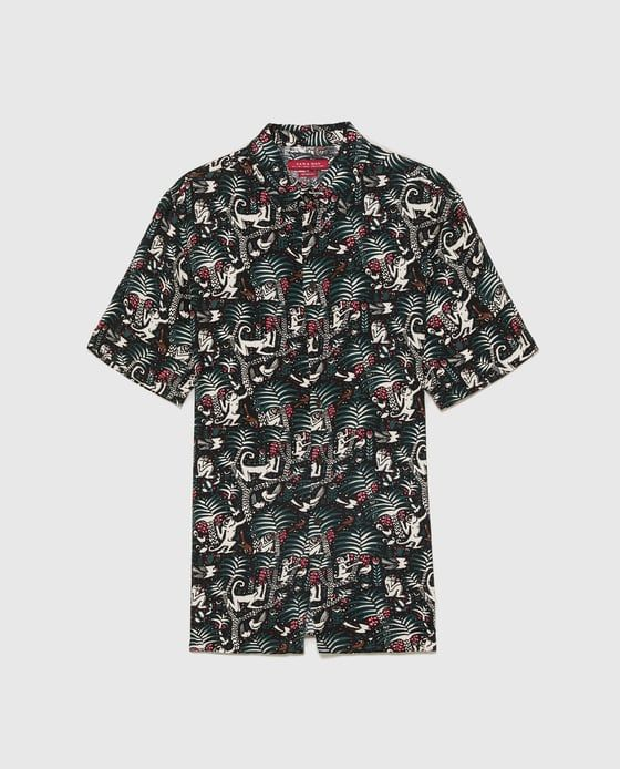f6ed8a5d Image 6 of FLOWING TROPICAL SHIRT from Zara | Men's Fashions | Mens ...