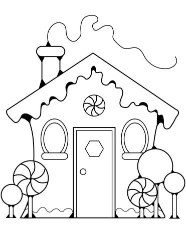 Gingerbread House Coloring page | Printable christmas ...