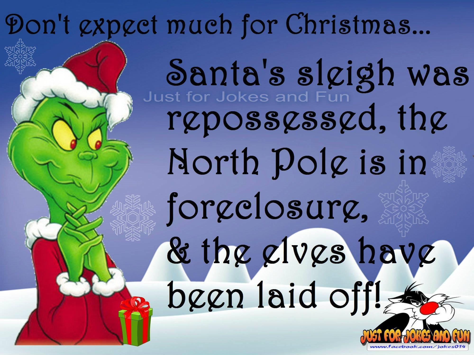 Funny Christmas Quote With The Grinch Christmas quotes